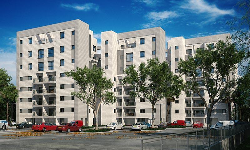 """הבנייה תחל בקרוב. שלושה בניינים אשר עתידים להכיל סה""""כ 81 דירות בלב יפו המתחדשת, צמוד לרכבת הקלה"""