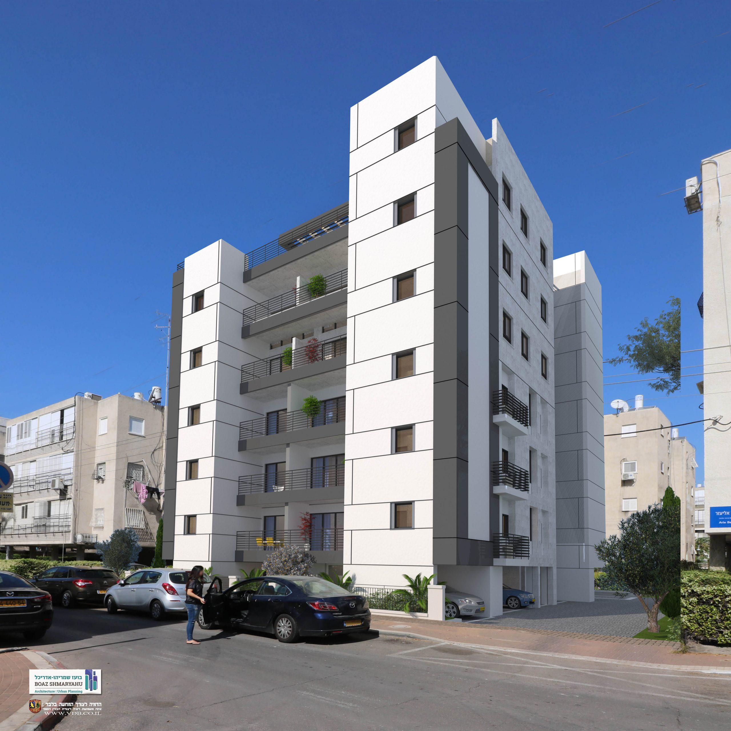המכירה בקרוב. בשכנות לבן אליעזר 12 המתחדש אף הוא, יתחדש ויחוזק הבניין עם 17 דירות באחד המיקומים המרכזיים והשקטים בעיר