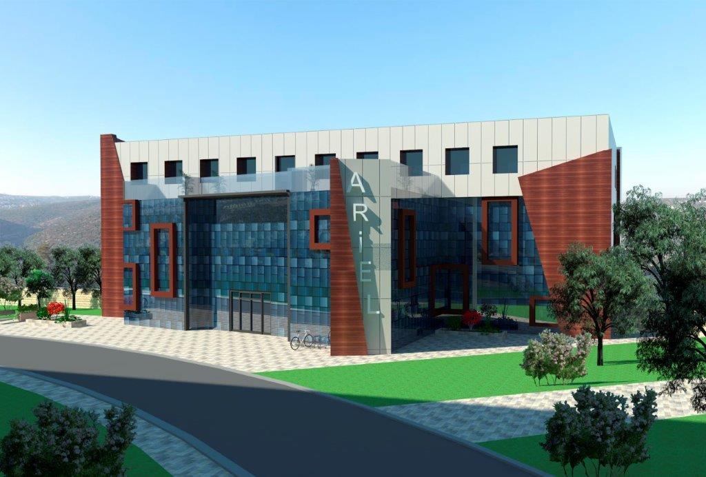 """הקבוצה מתכננת ומבצעת בלב אוניברסיטת אריאל קמפוס חדשני לניהול ויזמות בשיתוף YEDI. הקמפוס יתפרש על פני 7,000 מ""""ר."""
